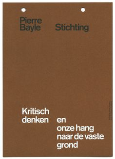 almost Modern : Pierre Bayle Stichting II #print #stationery
