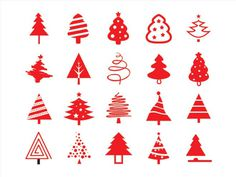 Free Christmas Tree Icon Set
