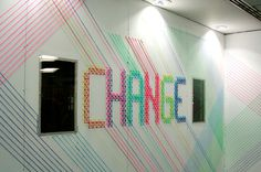 CHANGE for BBH London Evelin Kasikov – CMYK embroidery and Typographic Design – London #design #craft