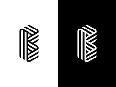 B Mark #logo #almosh82 #logo designer #creative #clever #design #design #media