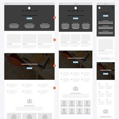 Responsive Website Wireframe Kit #uxkits #ux #responsive #ui #website #wireframe