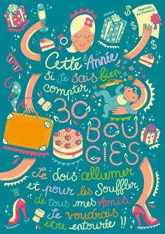 Marjorie's 30th Birthday on Behance #illustration