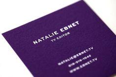 Design Work Life » Mattson Creative: Natalie Ebnet Logo & Business Cards