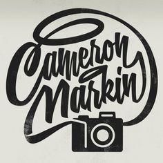 Cameron Markin watermark logo #mark #photography #logo #watermark #typography