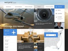 NetJets by Ian Burns #website #netjets