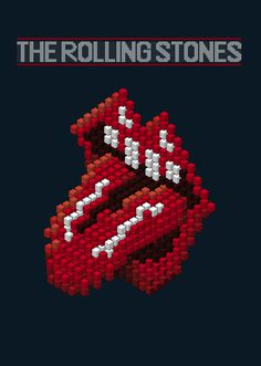 Fifty New Logos for The Rolling Stones Project on Behance #isometric #lips #stones #rolling