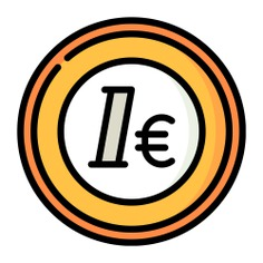 See more icon inspiration related to euro, money, coin, business and finance, currency, cash and business on Flaticon.