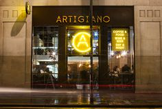 Artigiano by Post #sign #graphic design #yellow #typography #photography