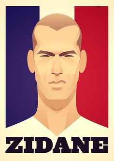 Zidane by Stan Chow #illustration #face #zidane