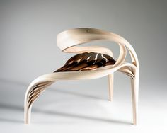 Wood chair, sculpture, Joseph Walsh