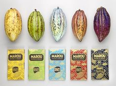 Marou Chocolate | Packaging of the World: Creative Package Design Archive and Gallery #chocolate #cacao #colors #package