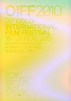 OIFF 20yrs/20sec posterframes Halvor Bodin #poster