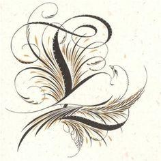 Letter-L-296.jpg 296×296 pixels #calligraphy #lettering #embellished
