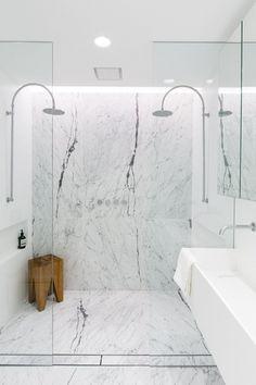 Paddington by cm studio. #bathroom #minimal #cmstudio #marble #shower
