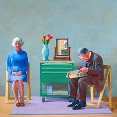 [object HTMLImageElement] #tate #hockney #parents #painting #1977 #david
