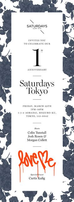 Saturdays Tokyo: Poster #poster #tokyo #saturdays #saturdays surf nyc