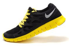 Nike Free Run 2 Black Reflective Silver Electric Lime-Mens #shoes