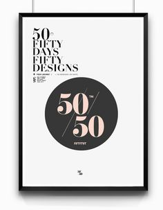 50/50 by MENTHOL™ #menthol #design #graphic #poster