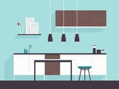 Kitchen Design #illustration