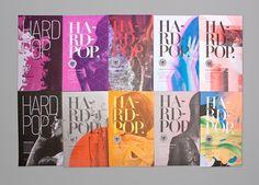 HardPop on the Behance Network #magazine cover
