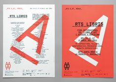 Arts Santa Mònica / Arts Libris 2011 identity / Identity #graphic design #typography #coral