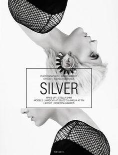 Silver | Volt Café | by Volt Magazine #graphic design #art #typography #layout #fashion #photography #black and white #beauty #volt magazin