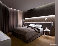 Sleek and Stylish Kasumiso Apartment - #bedroom, #interior, #decor, home, bedroom