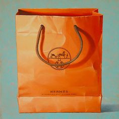 Jaye Schlesinger | PICDIT #bag #orange #art #painting