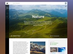 Wikipedia Redesign #web
