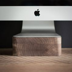 Lift - For iMac - Improve your health with this awesome iMac stand. #apple #walnut #stand #office #lift #wood #imac #mac