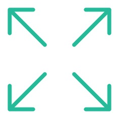See more icon inspiration related to expand, fullscreen, arrows, direction, orientation, multimedia option and interface on Flaticon.