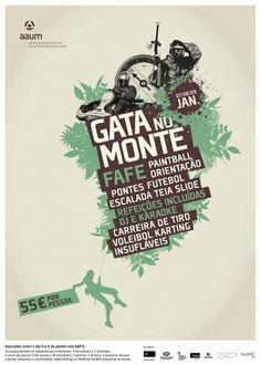 AAUM - Condições meteorológicas levam ao cancelamento da Gata no Monte #gata #nature #monte #poster
