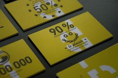 DUMOULIN BICYCLETTES : Sébastien Bisson #stationary #branding #yellow #identity #typography