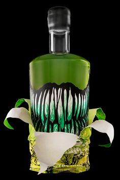 Baba Yaga Absinthe, for Arbutus Distillery #baba #packaging #illustration #absinthe #yaga