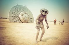 Burning Man - StuckInCustoms.com #alien #crash #burning #sci #fi #space #roswell #photography #gray #man #ufo #desert #grey