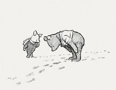 Do You See Piglet. Look At Their Tracks! #pooh #the #winne #piglet #illustration #bear #story