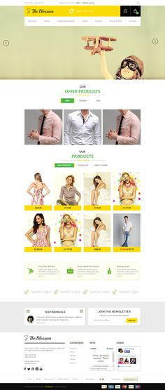 fashion, yellow, layout #yellow #opencart #ecommerce #fashion #layout