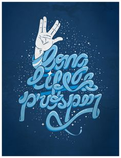 Long life and prosper by dracoimagem-com #inspiration #lettering #poster #typography