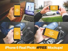 4 Free Real Photo iPhone 6 Mockup