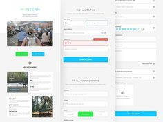 Intern Onboarding #form #log #freelance #sign #in #responsive #student #home #ui #up #onboarding #registration