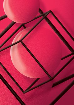 #illustration #digitalpainting #ball #bubble #pink #inside #poster #space #levitate #design