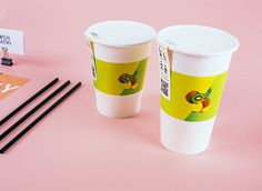Francesco Bianchi | Branding | Green Ratio on Behance #branding #packaging #brand #gradient #cup #wordmark