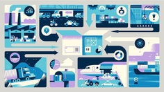 My latest editorial illustration for @infor on how digital networks can bring your orders on time.