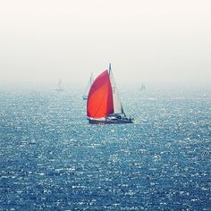 Jimmy Walker — There was rain #sailboat #fog #sea #boat #sail