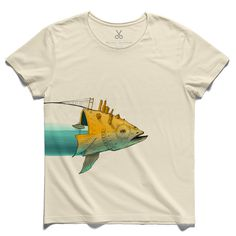 #the big fish #beige #tee #tshirt #fish #istanbul #bosphorus #bridge #kaanbagci #water #drawing