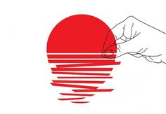 designers for japan | Flickr - Photo Sharing! #illustration #red #japan #sun