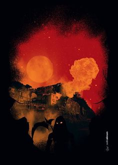The Assassin #assassin #doom #print #war #night #fire #poster #dark #skull #death #moon