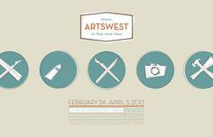 ArtsWest 34 Posters #artist #artshow #camera #design #graphic #icons #orange #illustrations #circles #poster #art #brush #circle #layout #pencil #green