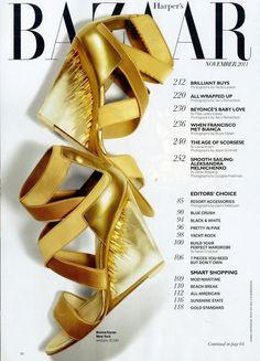 Donna Karan #shoes #graphic #cover #photography #fashion #bazaar #magazine