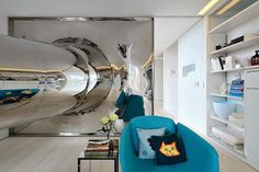 Modern penthouse living room #interior #artistic #penthouse #apartment #fun